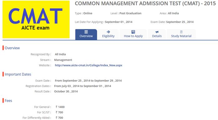 CMAT Exam Details - CollegeDunia.Com